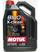 MOTUL 8100 X-clean C3 5W-40 -5 Liter helsyntetisk VW BMW MB Opel DPF